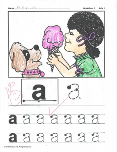 Example work, Pre-K student, example 2