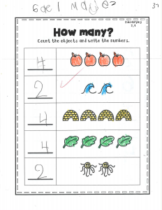 Example work, Pre-K student, example 1