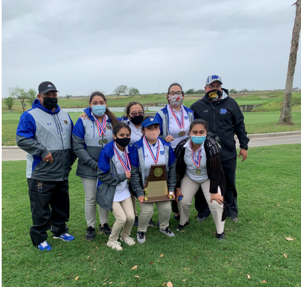 IDEA Weslaco Pike Girls Golf Team District Champions: Scott Schreiner Golf Course on April 19-20, 2021