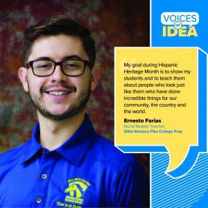 Ernesto Farias Voices of IDEA | IDEA Public Schools