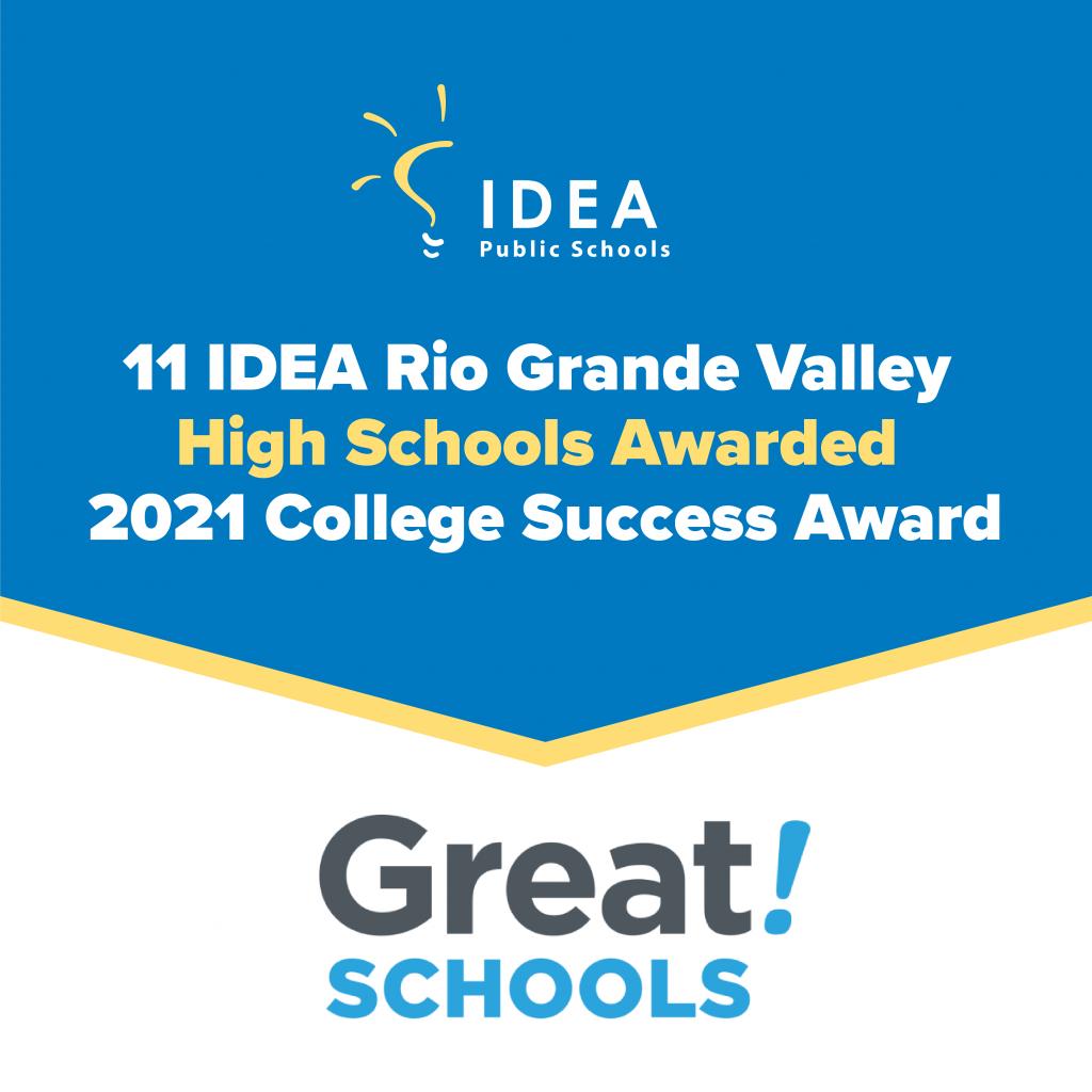 Awarded 2021 College Success Awards   IDEA Public Schools