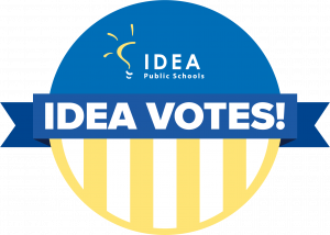 #IDEAVotes Sticker | National Voter Registration Day | IDEA Public Schools