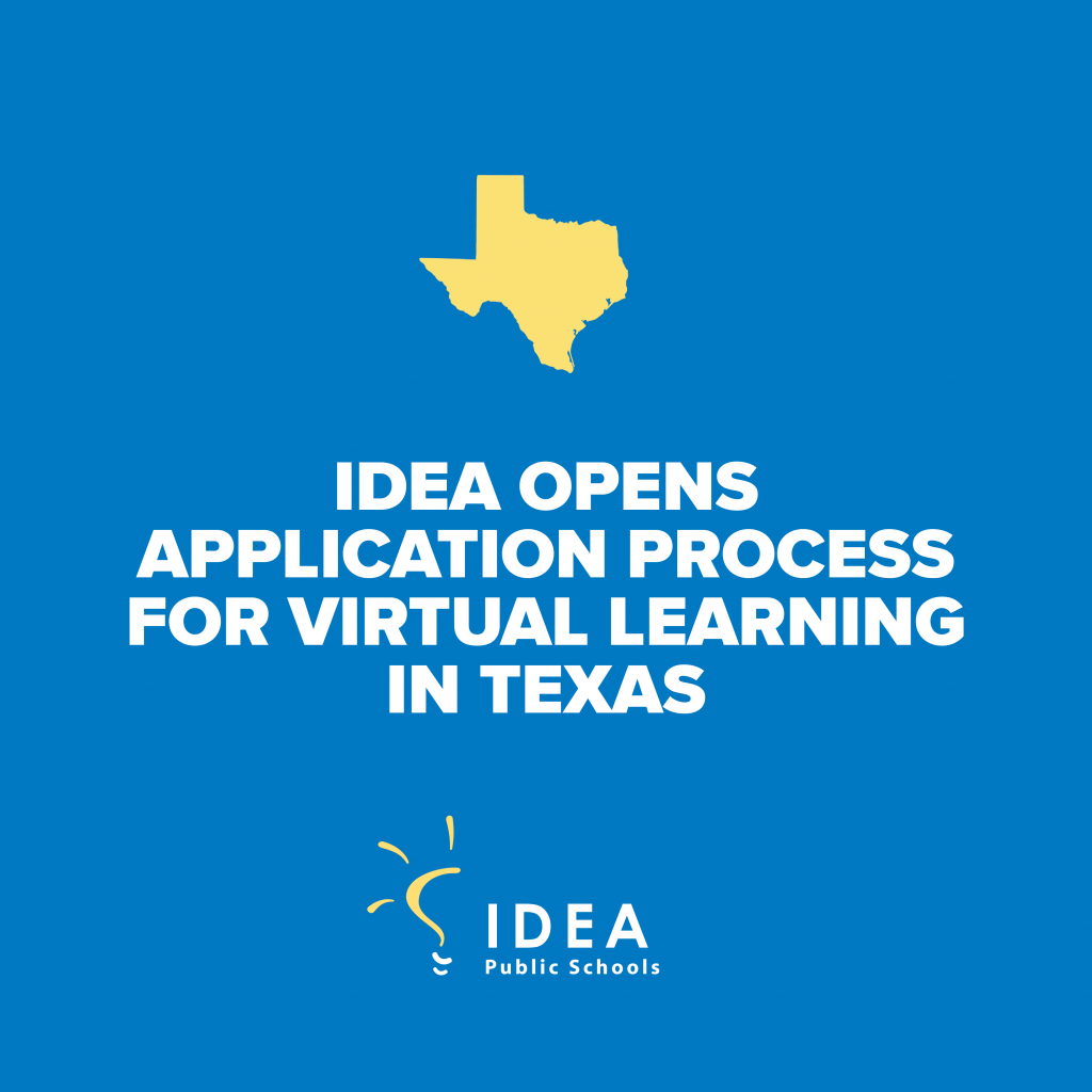 IDEA Opens Application Process for Virtual Learningin Texas